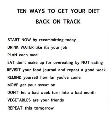 get on track