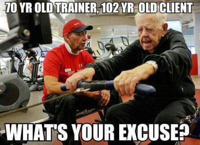 70 year old trainer