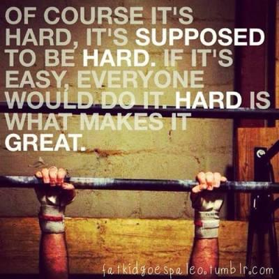 its hard